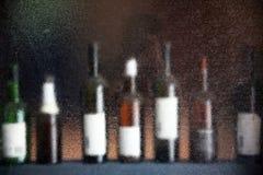 Range of wine bottles Stock Images