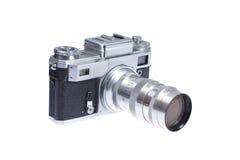 Rangefinder camera. Isolated on white background Royalty Free Stock Image