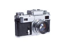 Rangefinder camera. Isolated on white background Royalty Free Stock Photography