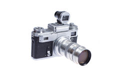 Rangefinder camera with additional viewfinder Stock Photo