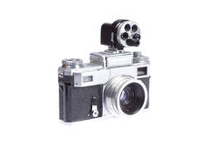 Rangefinder camera with additional viewfinder Stock Photography