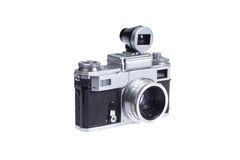 Rangefinder camera with additional viewfinder Royalty Free Stock Image