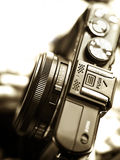 Rangefinder camera detail Stock Photography