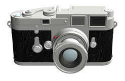 Rangefinder Camera, Front. Three dimensional rendering of the front of a rangefinder camera with a 50mm lens vector illustration