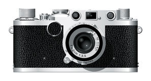 Rangefinder Camera II. Computer generated drawing of a German rangefinder camera with a 50mm lens royalty free illustration