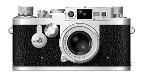 Rangefinder Camera III. Computer generated drawing of a German rangefinder camera with a 50mm lens vector illustration