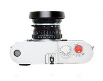 Rangefinder camera. Picture of classic rangefinder camera Royalty Free Stock Image
