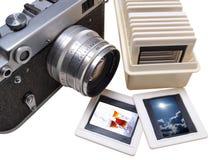 Rangefinder camera and slade Stock Image