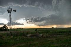 Rangeland Thunderstorm Royalty Free Stock Photo
