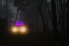 Ranger. Car patrolling the forests of the Community of Madrid Royalty Free Stock Photos