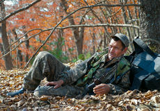 Ranger in autumn forest 4 Stock Photo