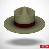 Ranger hat khaki green color. Vector Illustration Royalty Free Stock Photos