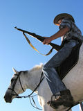 Ranger horseback riding Stock Image