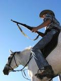 Ranger horseback riding Stock Image