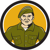 Ranger Standing Attention Circle Cartoon Stock Photography