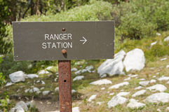 Ranger Station Sign Stock Photo