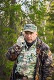 Ranger talking on radio Stock Photography