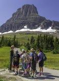 Ranger and Visitors at Glacier National Park Royalty Free Stock Photos