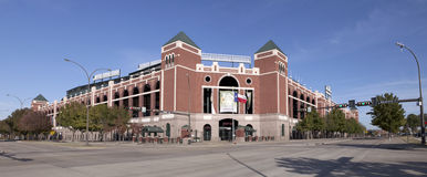 Rangers Ballpark in Arlington (panoramic) Royalty Free Stock Images