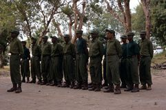 Free Rangers During A Drill In The Gorongosa National Park Stock Photography - 25576082