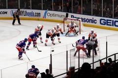 Rangers x Islanders Hockey Game Stock Photo