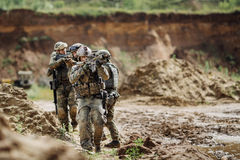 Rangers during the military operation Royalty Free Stock Photo