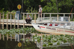 Rangers waiting at the airboat Stock Image