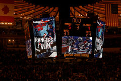 Rangers x Islanders Hockey Game Stock Image