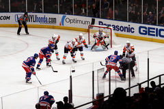 Rangers x Islanders Hockey Game Stock Photo