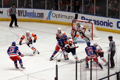 Rangers x Islanders Hockey Game Stock Photography
