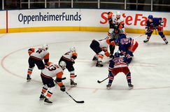 Rangers x Islanders Ice Hockey Game Stock Photography