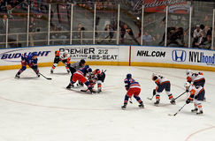 Rangers x Islanders Ice Hockey Game Stock Images