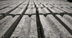 Rangées de brique Photographie stock libre de droits