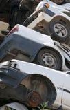 Rangieren Sie Autos für die Wiederverwertung aus stockfoto