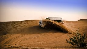 Ranging Off-road Vehicle on Dessert Stock Images