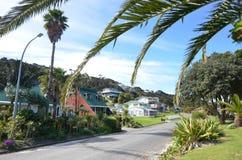 Rangiputa bosättning i den Karikari halvön - Nya Zeeland Royaltyfria Foton