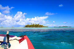 Rangiroa atoll arkivbilder