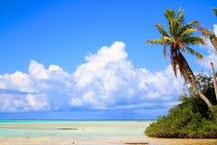 Rangiroa atoll royaltyfria foton