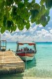 Rangiroa atoll, franska Polynesien royaltyfria foton
