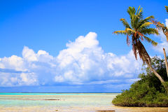 Rangiroa atoll. Tuamotu islands, French Polynesia Royalty Free Stock Photos