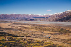 Rangitata flod, Nya Zeeland Arkivbilder