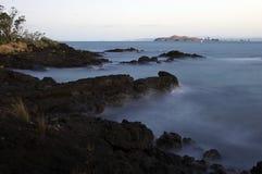 rangitoto岩石 免版税图库摄影