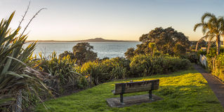 Rangitoto at Dawn Stock Photography