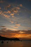Rangitoto-Insel auf Sonnenuntergang Lizenzfreie Stockbilder