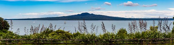 Rangitoto Island, Auckland New Zealand. Rangitoto Island is a volcanic island in the Hauraki Gulf near Auckland, New Zealand. The 5.5 km wide island is an iconic royalty free stock images