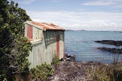Rangitoto Island Boat Shed 02 Stock Photography