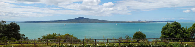 Rangitoto Island and the Hauraki Gulf Royalty Free Stock Photo
