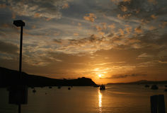 Rangitoto Island on sunset Stock Photography
