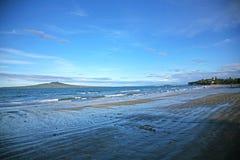 Rangitoto Island from Takapuna Beach Royalty Free Stock Image