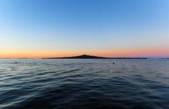 Rangitoto island in twilight time Stock Photos